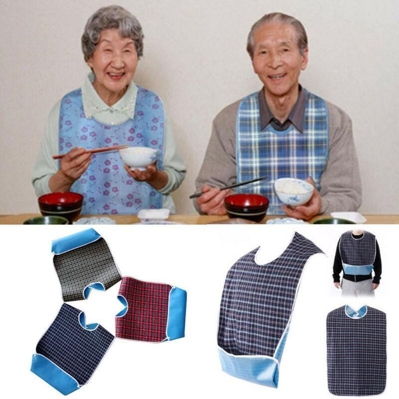 Disability Adult New Cloth Protector Bib Detachable Mealtime Waterproof 78X44Cm Aid Aprons Faroot ZvIWD