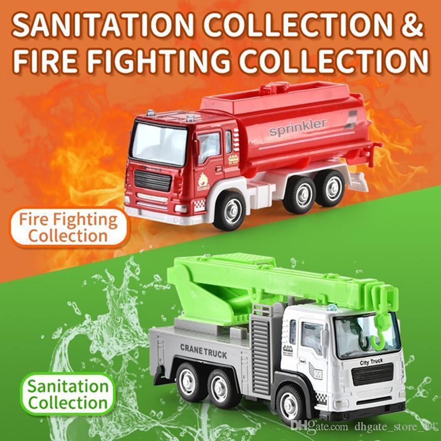 Mini Antincendio giocattolo modello Truck lega Edilizia serie di modelli di veicoli Giocattoli per i bambini Kid regalo 3 in 1