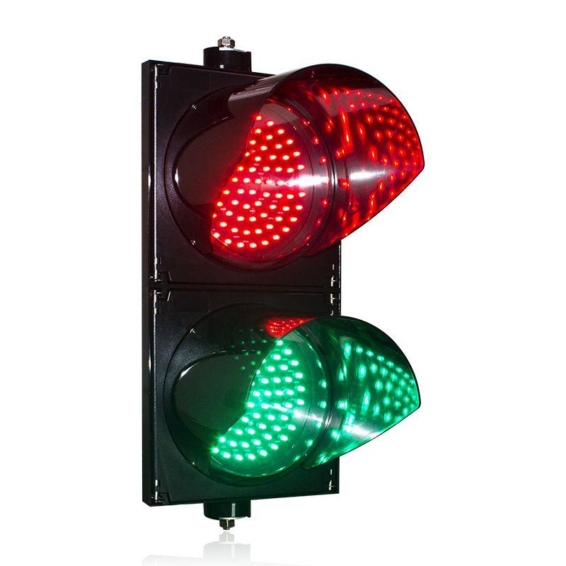 Semáforo PC Shell Dia.200x2 Verde Verde LED Semaforo