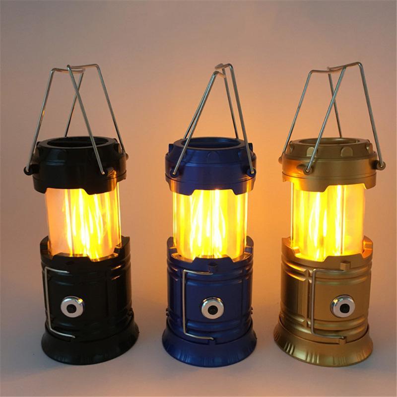 Аккумуляторная батарея 2-IN-1 привело кемпинга света питание пламени декоративные лампы Портативный светодиодный фонарь Кемпинг Фонари для Появления