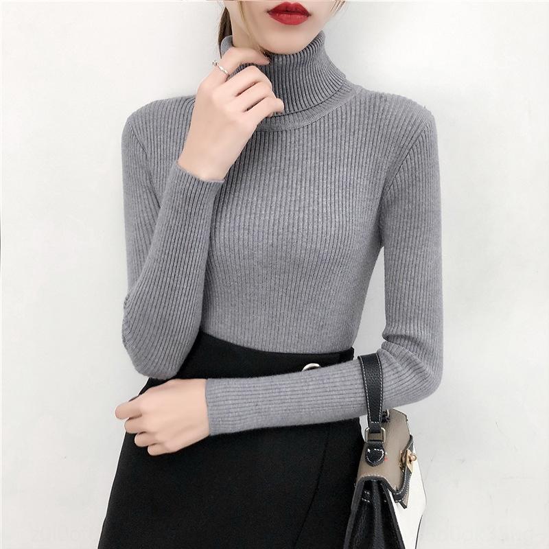 QdKXO verdickte Coregarns ~ Winterfrauen grundlegenden Super-Allgleiches dünne Turtleneck strickte fit Stretch-Shirt für Pullover Pullover grundiert wo