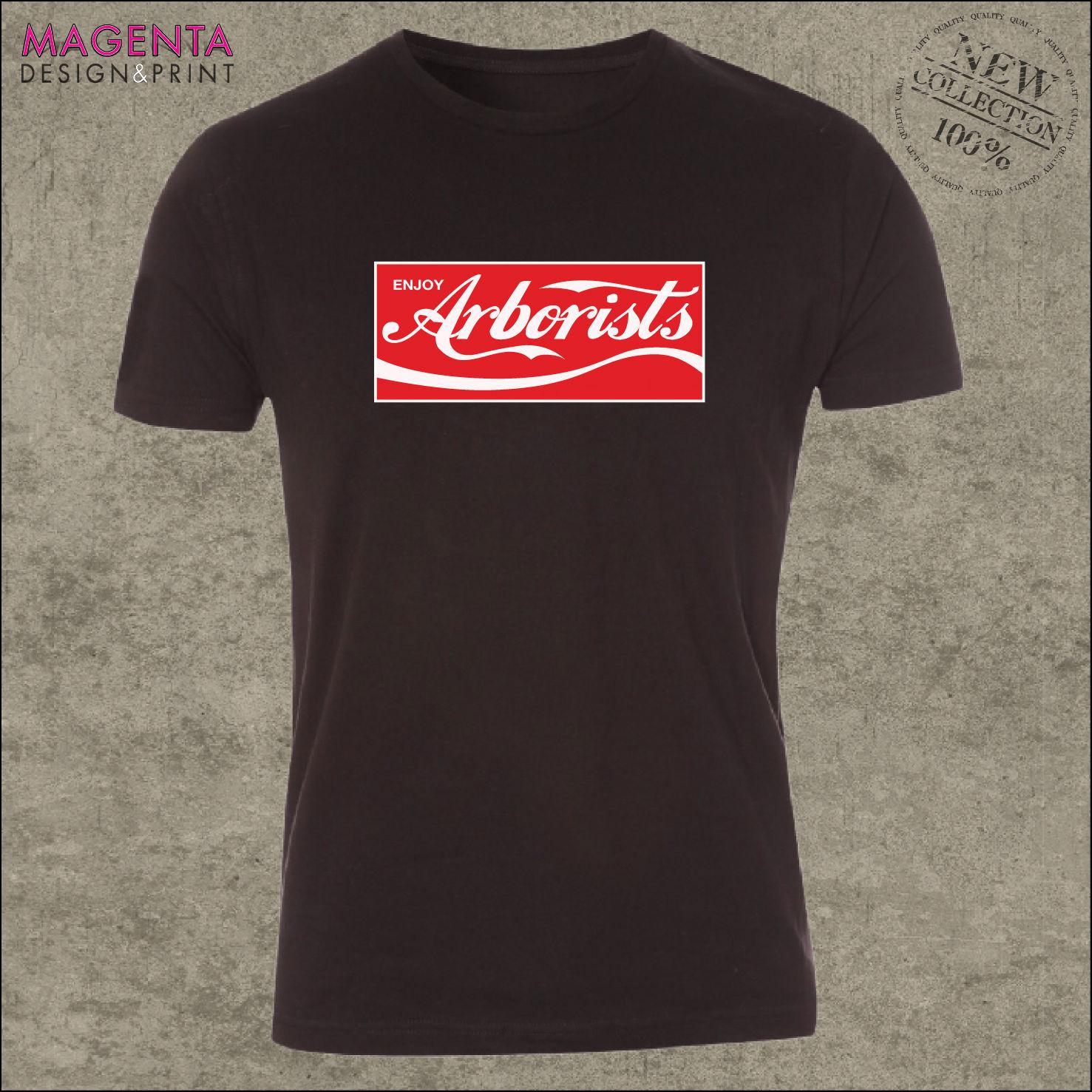 Hombres Imprimir Tee Shirts Disfrute Arboristas camiseta: Arboricultor papá papá marido cumpleaños de la ropa Ideabasketball Camisetas
