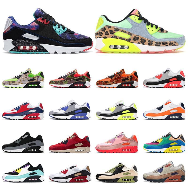 Nike Air Max 90 Смит обувь для мужчин женская модель Stan дизайнер черный белый красный синий серебристый розовый смит лучшие кроссовки повседневная обувь размер 36-45