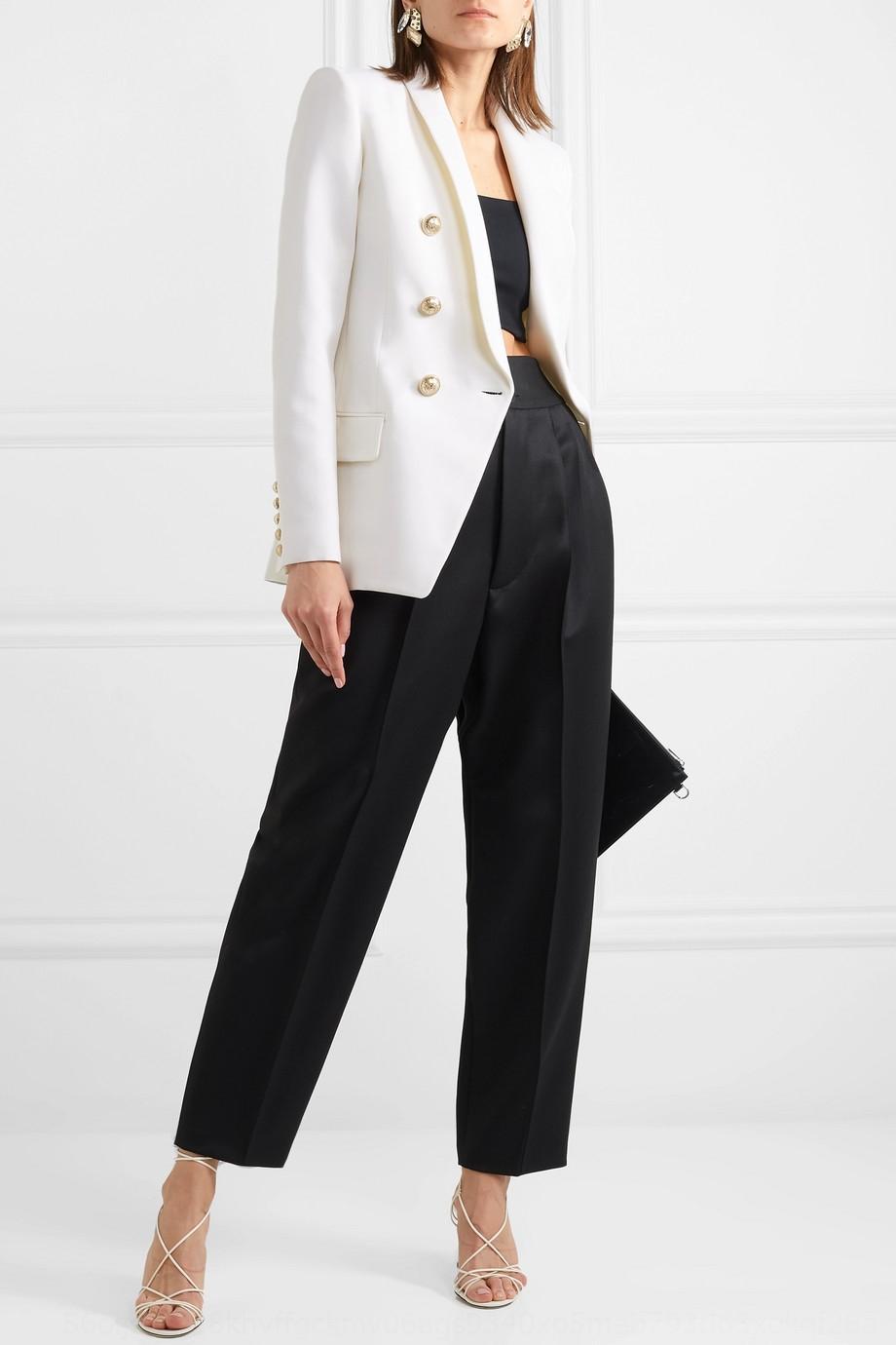 b8cdi 2019 primavera e l'autunno nuovo temperamento modo sottile giacca giacca abito bianco in grado tuta professionale per le donne