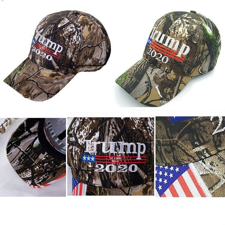 Nouveau Camo Donald Trump 2020 Hat Make Amérique Great MAGA Caps USA Flag Lettre de broderie 3D Camouflage Hommes Casquette de baseball pour les femmes FWA745
