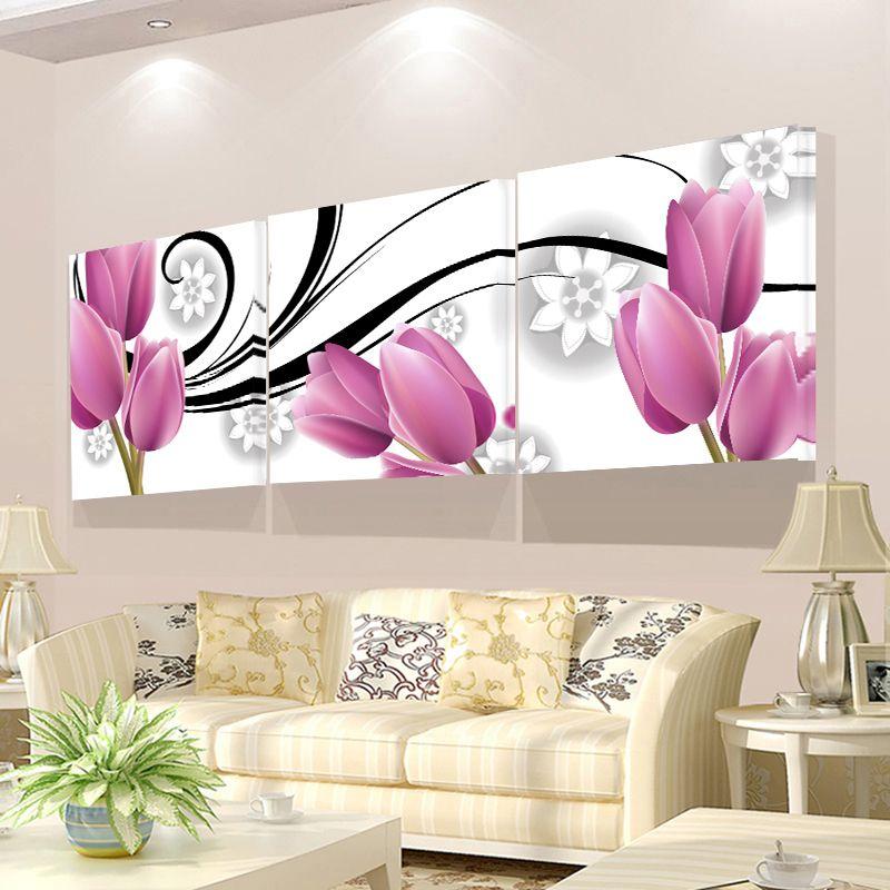 No Frame parete Immagini Per Soggiorno 3 pezzi pittura su tela per la pittura di arte della parete del salone olio Pictures On The decorative
