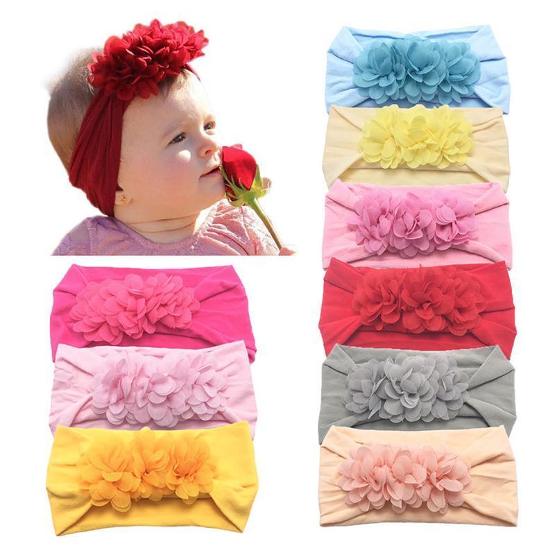 Frische Turban Neugeborene Prinzessin Kind Kopfbedeckung Haarband Perle Blumen Fashion Style Stirnband-Kinder nette Haarband Baby-elastische Iydmn