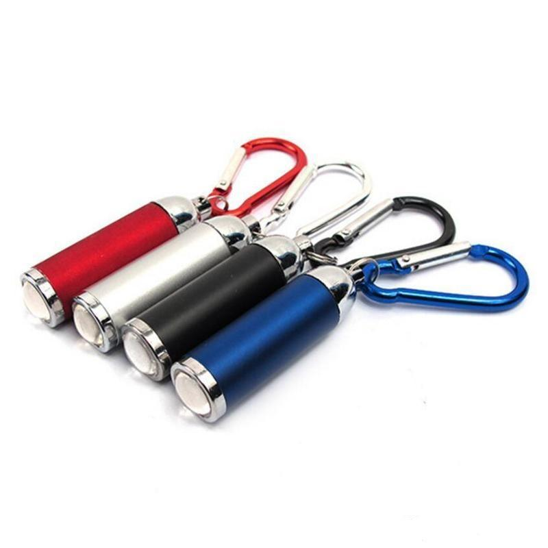 Mini luce con 4 colori torcia elettrica esterna Edc Led Hook Keychain - torcia Camping Portachiavi hairclippers2011 portatile Ytjao