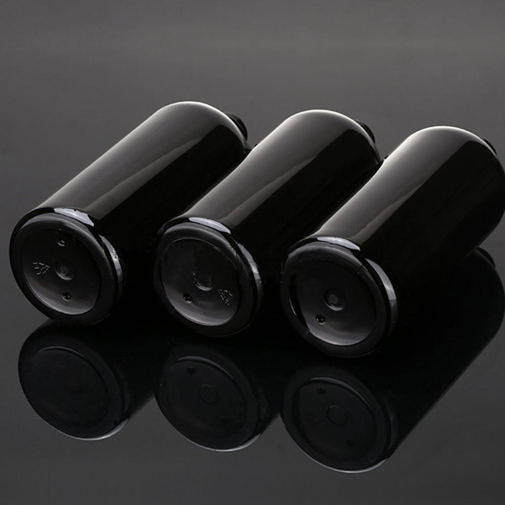 12pc 400ml Vacía negro cosmética PET de aluminio loción botellas oro collar de aluminio de la botella de la bomba de empaquetado de contenedores