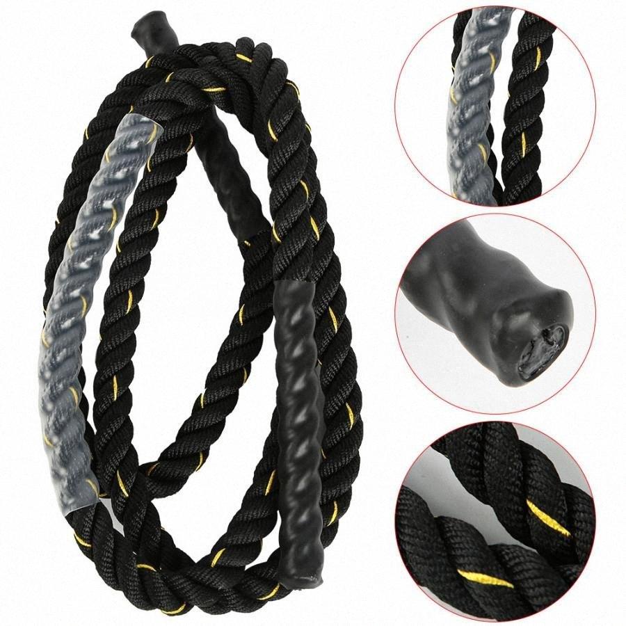 25 mm ajustable de poliéster durable cuerda pesada para adultos saltar saltar equipos de fitness fuentes del entrenamiento del ejercicio de la gimnasia de la aptitud equipamiento Hurz #