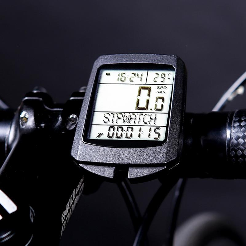 Factory Direct Selling Hot-Selling Bicycle Code Meter In Five Languages, Neutral Luminous Bicycle Odometer, Cycling Speedometer