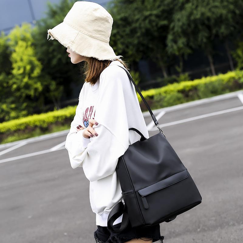 Couro de bagagem Tag2020 Anti-Theft Backpack Feminino Novo Estilo Multi-Function de Grande Capacidade Estilo Coreano All-jogo Bag Oxford pano de lona Ba