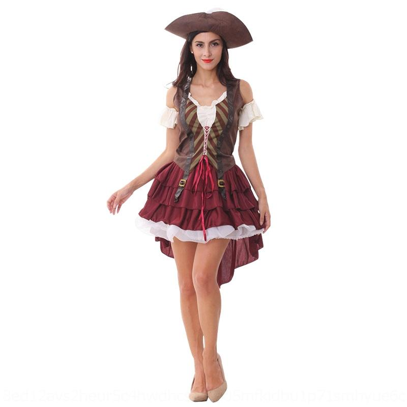 jba6U iEnxI scène pirate Vêtements Saint Day Caribbean capitaine pirate Jack partie de la performance femme costume adulte costume