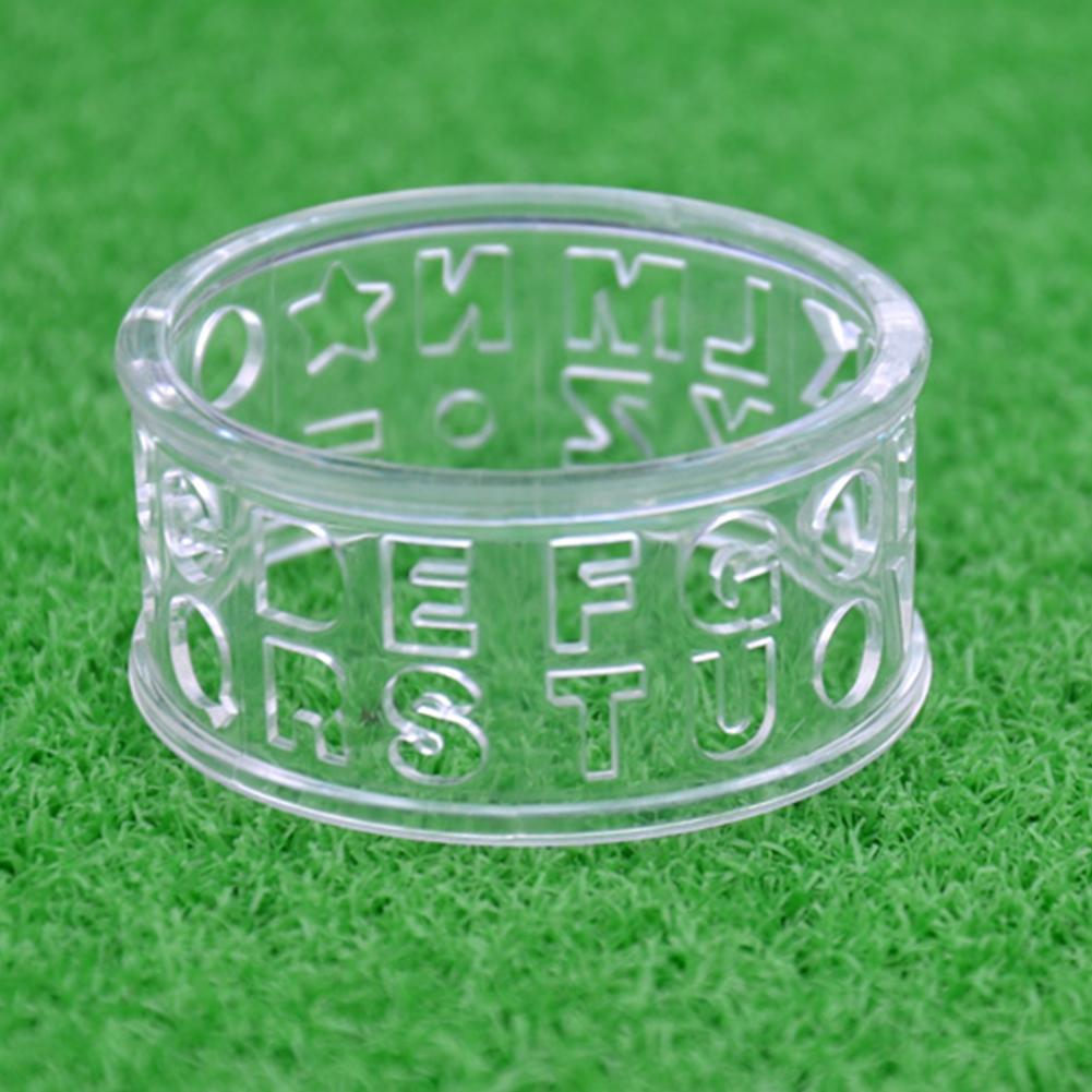 Professional Ball Letters Round Training Aids Transparent Golf Line Marker