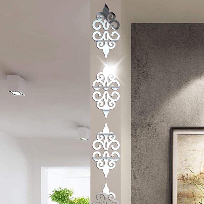 10 pezzi 3d specchio adesivi murali della decorazione della casa Soggiorno 7 * 7cm Piazza autoadesiva piastrelle Sticker nuovo mosaico portico poster da parete