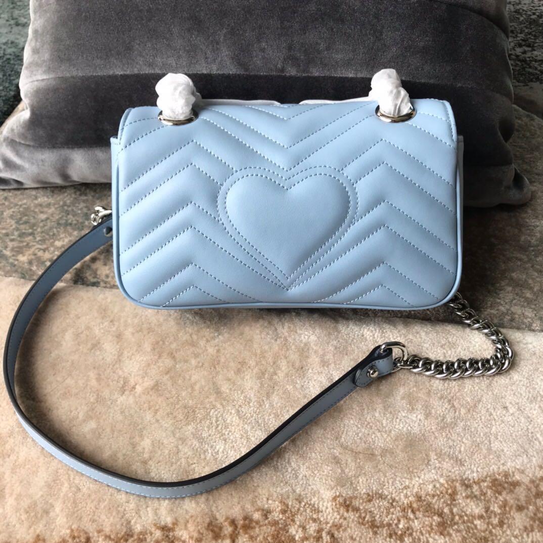 Venta caliente de lujo G Hombro G Hombro Marmont Wave Bolsos Dos Dama Patrón Cadena Original Bolsa Diseñador Cuero Tote Ladies Garw QDBCV