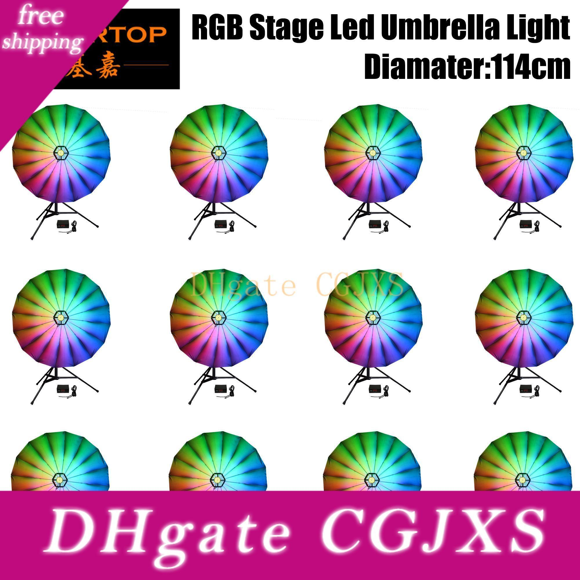 25inch trasporto veloce Diametro di copertura della fase del LED Umbrella luce DMX512 LED Stage Light Consigliato per Parti della discoteca del DJ Wedding Decoration