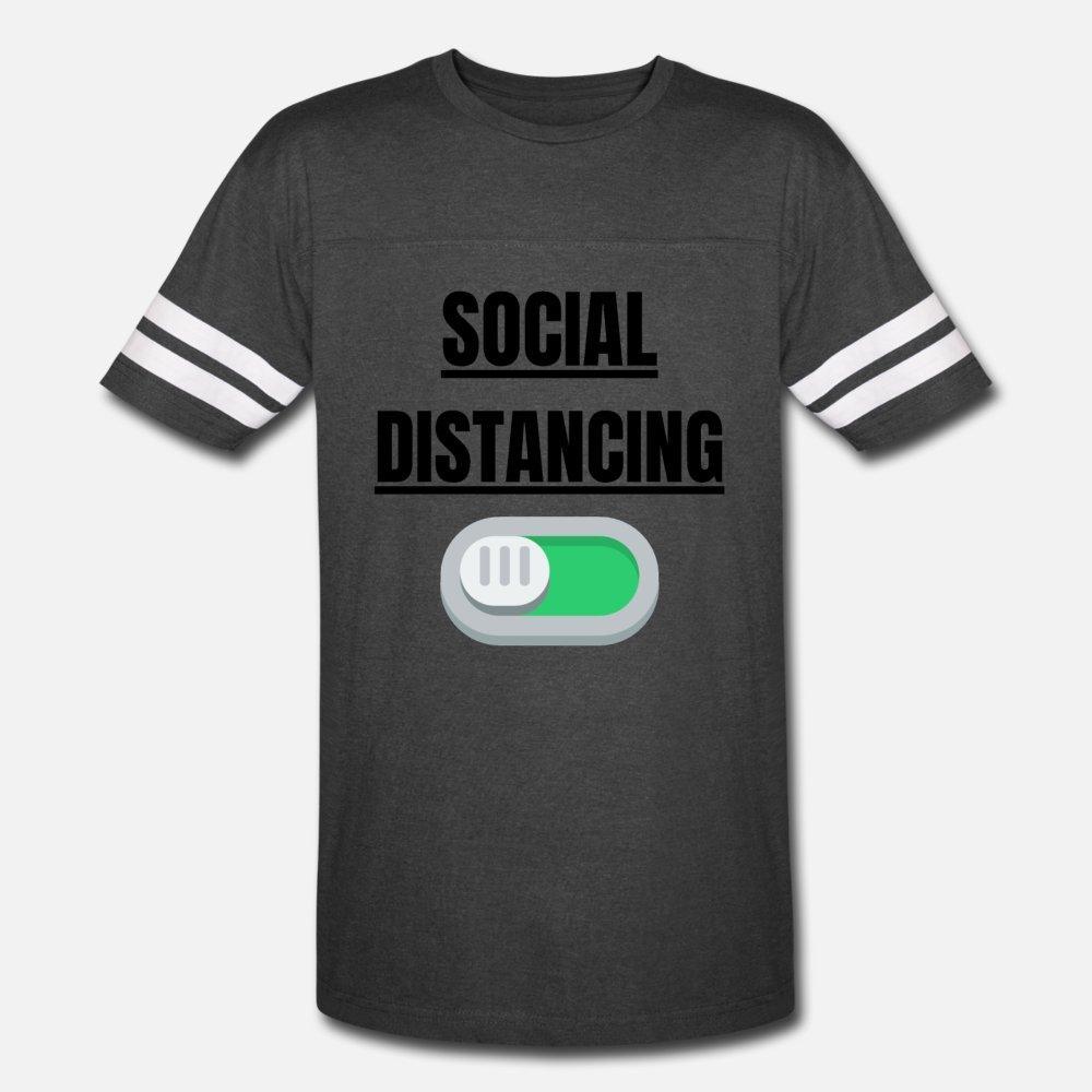 El distanciamiento social hombres de la camiseta 100% algodón Diseño de S-XXXL básico sólido cómodo camisa de verano loco estilo de la novedad