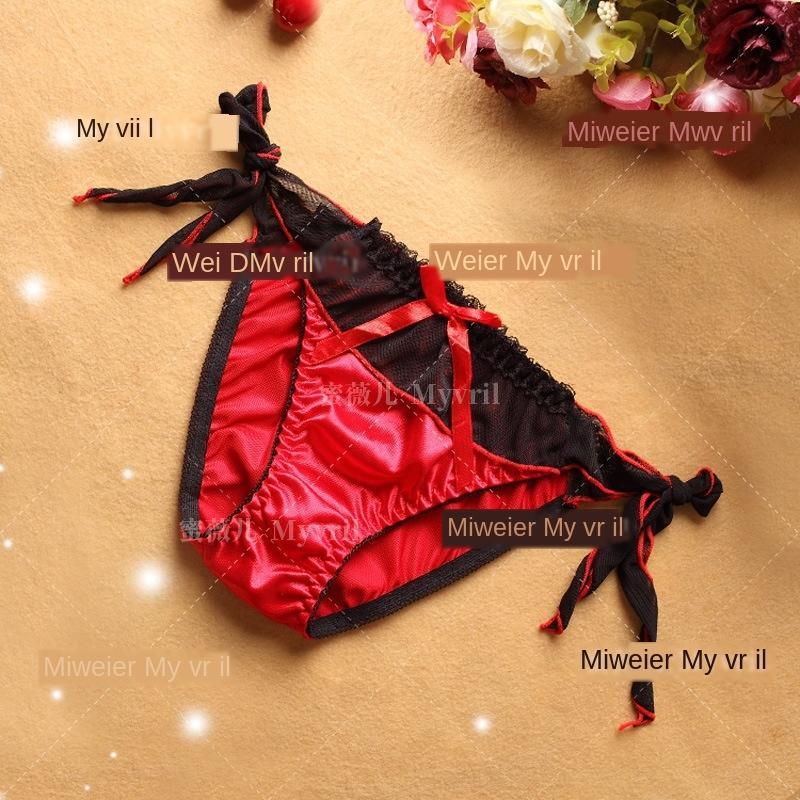Unterwäsche der silk Frauen der T-Hose Tanga nettes Mädchen Versuchung sexy Sexy 9612 Spitze-Spitze-Unterwäsche jRNX1