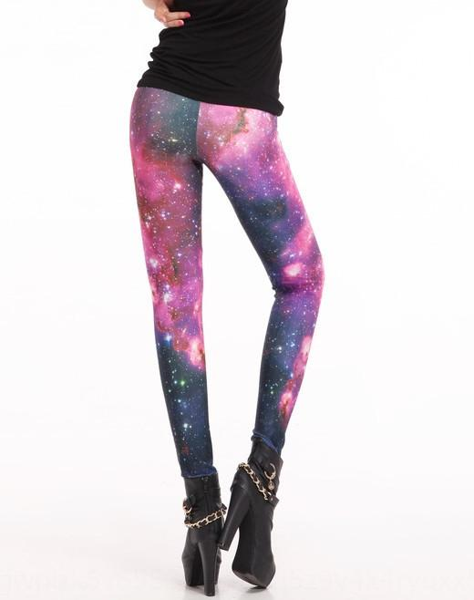 nZUCO Glossy digital printing Galaxy rose red sexy leggings Lgs3010 tight pants Digital tight pants
