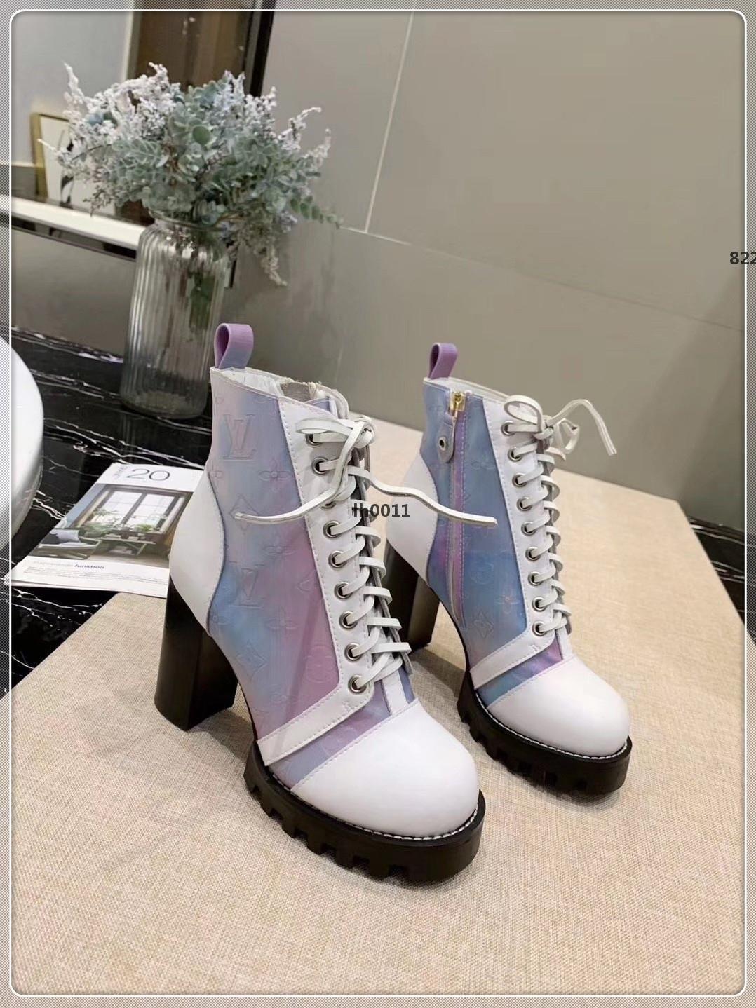 Luxo Superior das sapatas das mulheres Botas Laureate Platform Bota de Neve Inverno Moda botas Ladies Botas Mulheres Marca Tamanho 35-41
