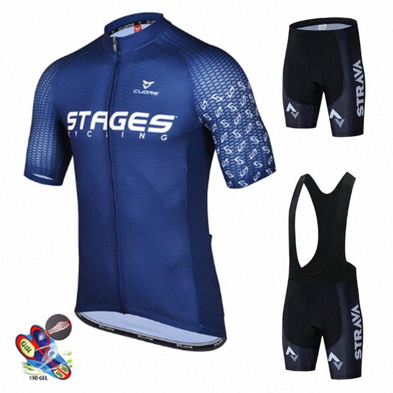Yaz Bisiklet Jersey 2020 Yeni Strava Erkekler Nefes Dağ Bisiklet Giyim Maillot Ropa Ciclismo Bisiklet Giyim Bisiklet Takımı QVHX #