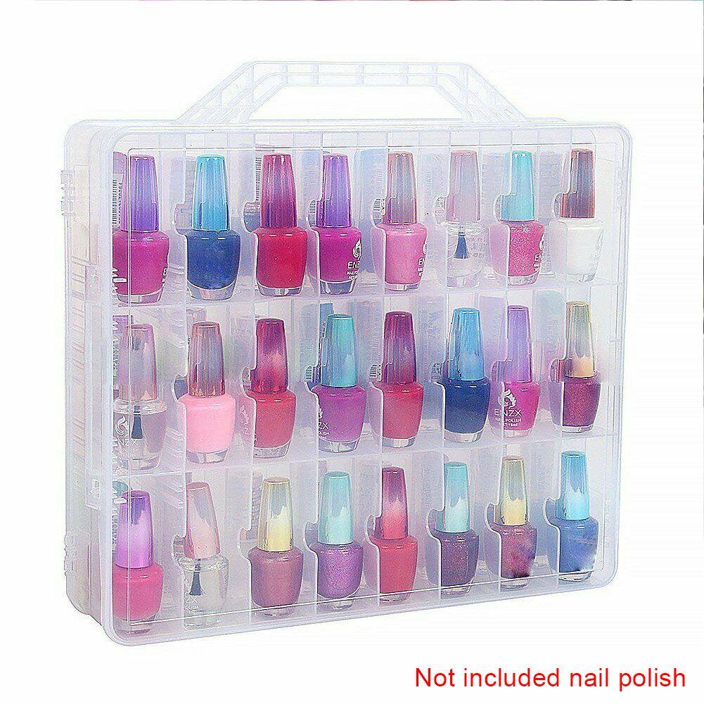 Гель лак для ногтей Организатор Регулируемое Space Double Side 48 бутылок Clear Compact