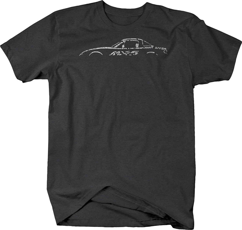 2019 Cool Summer Men Camiseta Miata Japão Car Rx-5 Jdm Vista Lateral Camiseta T-shirt engraçado