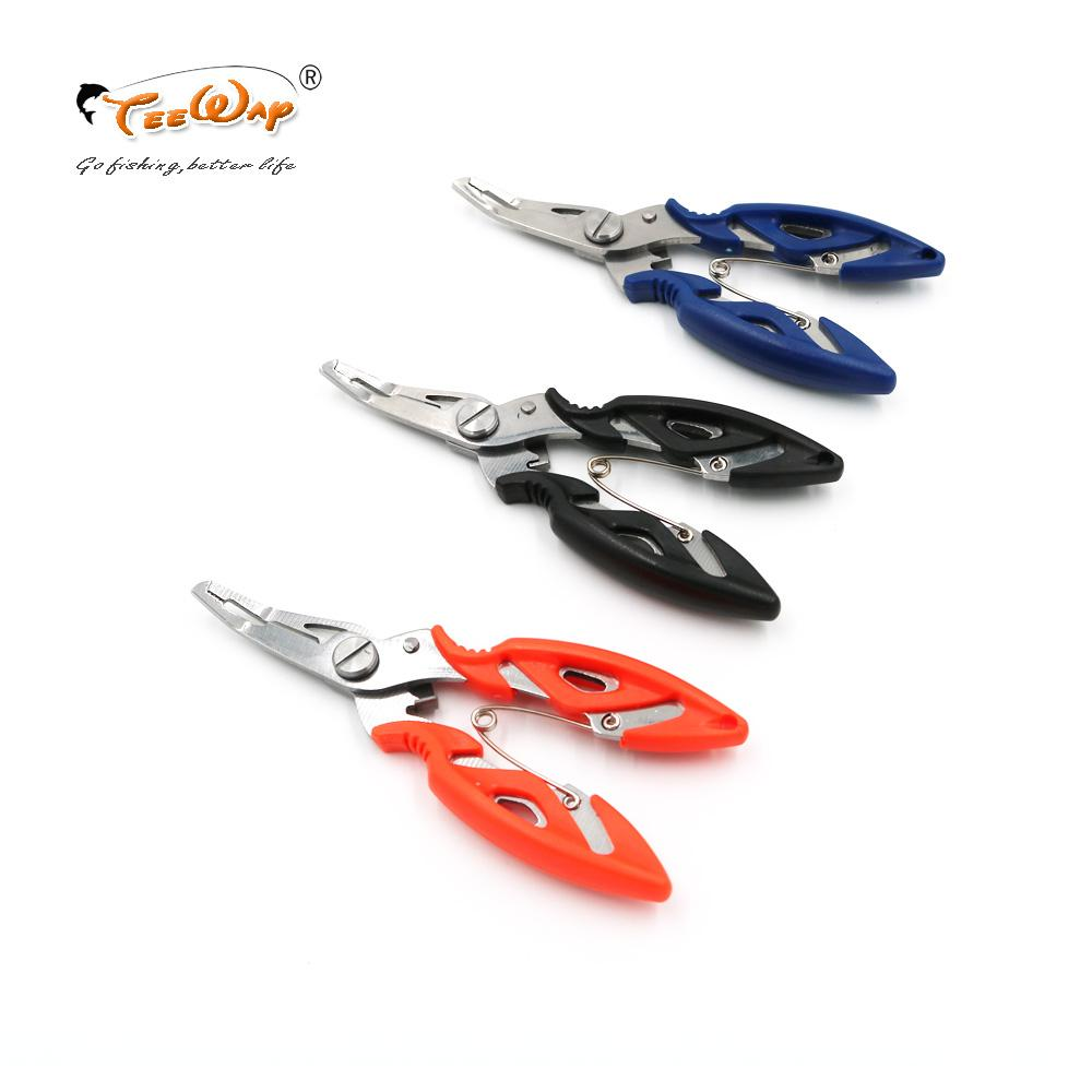 1Pcs pesca dell'acciaio inossidabile Scissors Pinze linea Cutter Lure Bait Rimuovere Hook Tackle Kit strumenti Accessori