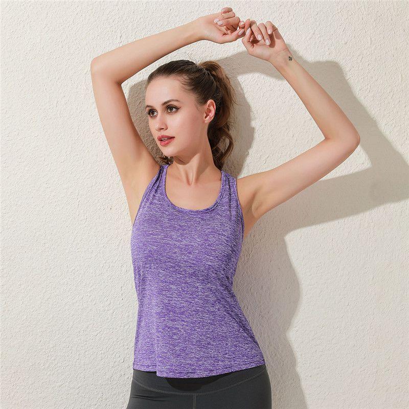 Sexy Backless Yoga Regatas por Mulheres mangas Esporte Academia Camisole Workout Quick Dry Atlético de duração Coletes Lady