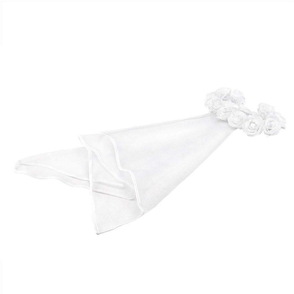 12 presentes da flor Coroa Véu Bachelorette nupcial do partido do favor da festa malha de casamento