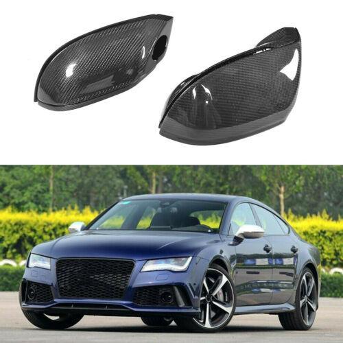 Espejo lateral Cubierta Pantalla de Audi A7 S7 RS7 11-17 W / carril Side Assist fibra de carbono
