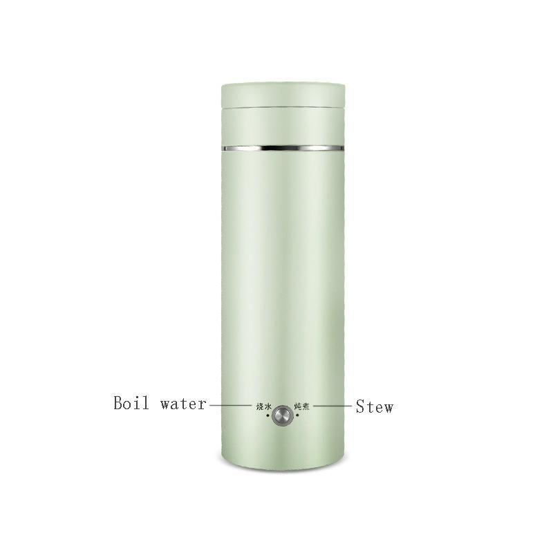 Электрический котел бутылка Портативное Отопление Термическая кружка для кофе молоко путешествия чайника воды 11 22