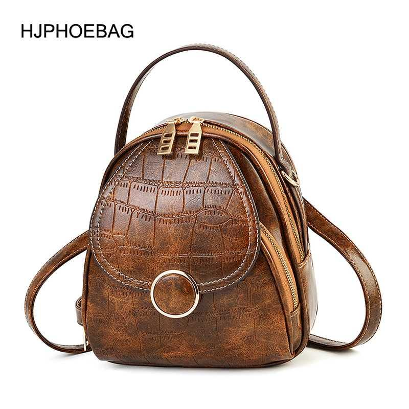 Мини кожаный подросток аллигатор женские девушки сумка на плечо Mochila PU многофункциональный рюкзак маленькая женская школа для рюкзака mhgmv