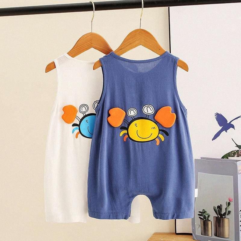 Summer Infant barboteuses Bébés garçons manches Casual Vêtements Mignon basket Jumpsuit barboteuses enfants Bodysuit Tenues zpCW #