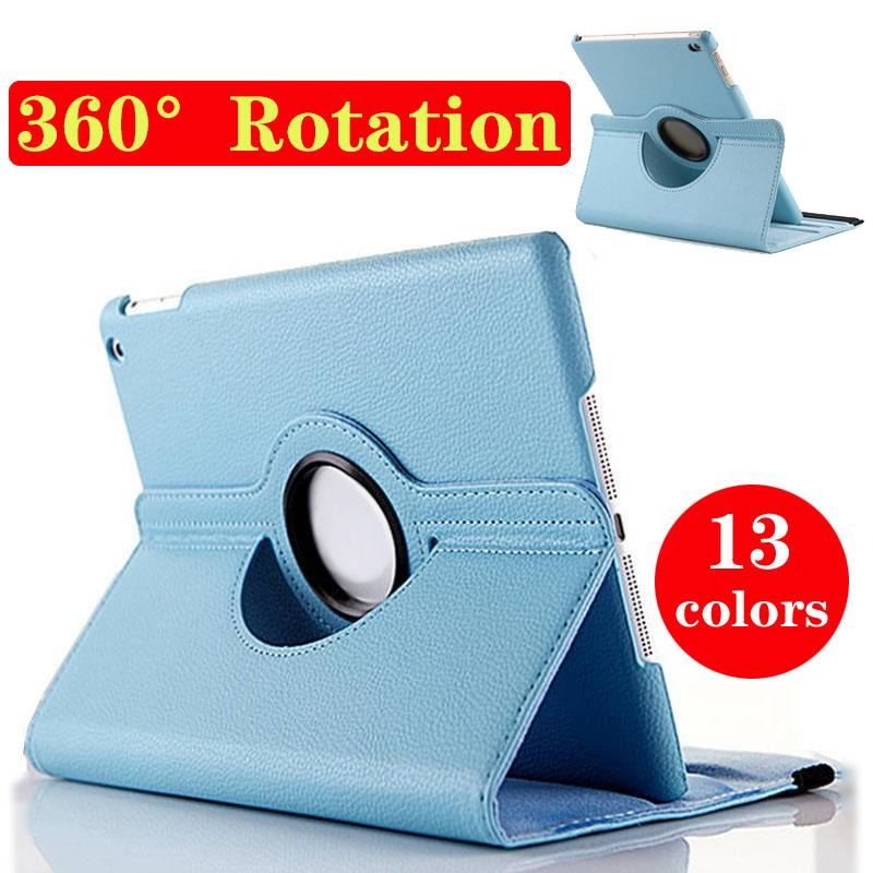 Tablet PC for ipad case 360 degree rotation smart stand PU leather for ipad air2 case for ipad5/6/mini4 retina free shipping