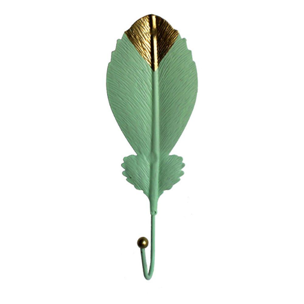 Главная Украшение одежды двери стена листьев Shaped Кухня Висячие Hook Шкаф Mini