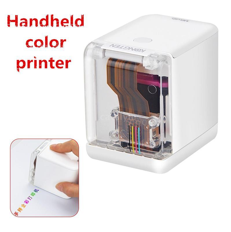 Ручной полноцветный принтер портативный принтер Wi-Fi Мобильный Цвет Handheld и замена чернильных картриджей