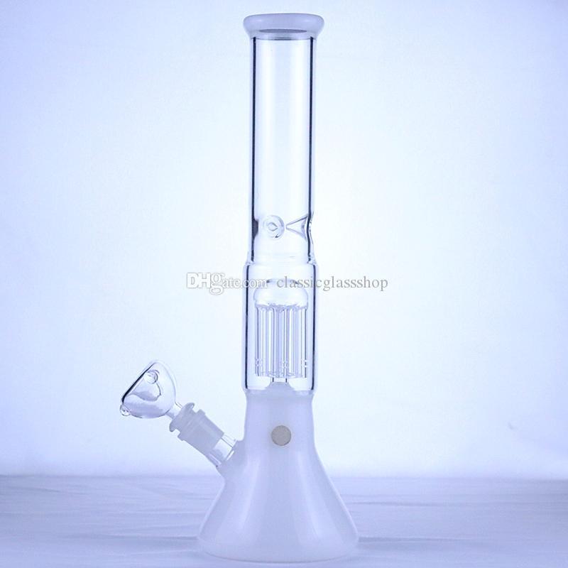 """14.2"""" beyaz yeşim renkli Büyük düz tüpü cam suyu bonglar cam yağ brulor borusu su bonglar 14mm kase geri dönüşüm petrol kuyusu"""