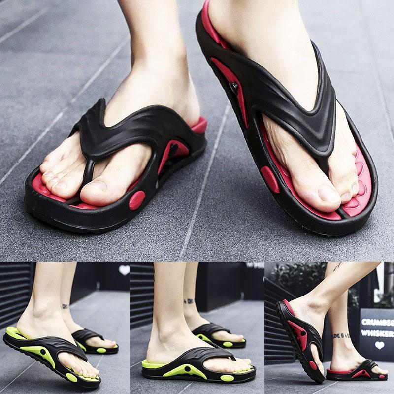 Mens Flip Flops leggero e traspirante antiusura scarpe antiscivolo Thick Sole Massaggi ALS88