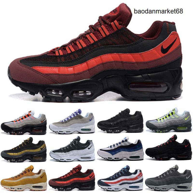 95 Running Shoes Triple Nero Bianco Laser Fucsia Rosso Orbit Bred Aqua Neon 95s delle donne degli uomini delle scarpe da tennis allenatori sportivi Size 36-45 BB789