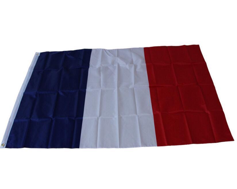 3 * 5 Ayaklar Fransa Ulusal Pirinç Grometler Banner ile Fransız Klasik Polyester Bayraklar Dekorasyon Fransız Bayrağı Banner Bayraklar