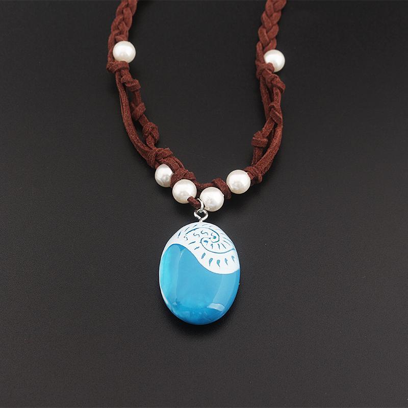Moana clásico encanto collares hechos a mano cuerda trenzada cadena de perlas bisutería Gargantilla Mujeres Moda Mujer