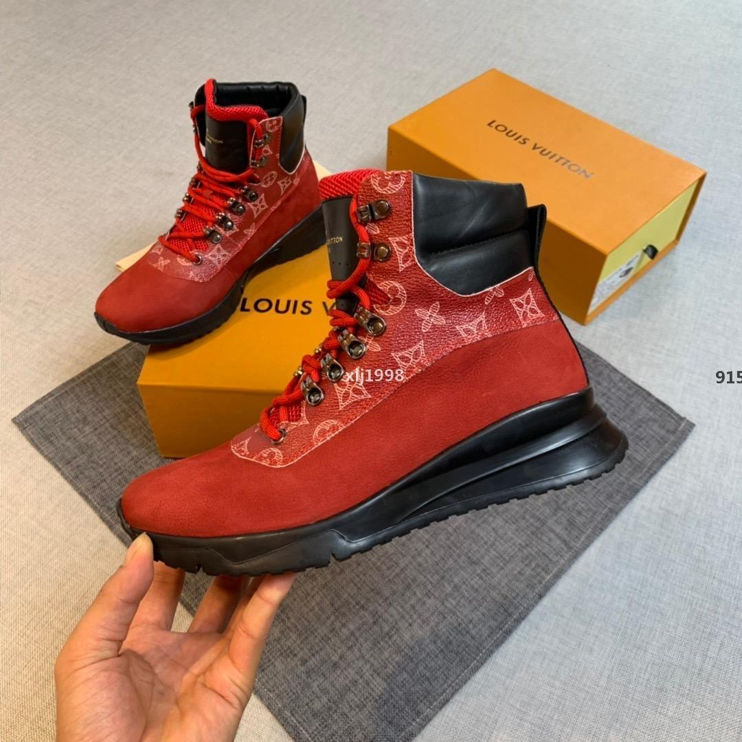 bordados Nueva diseñadores de zapatos de lujo zapatos rojos blancos negros de diseño 2020ss diseñadores de cuero verdaderas de la zapatilla de deporte para hombre ENTRENADORES tamaño de los calzados informales