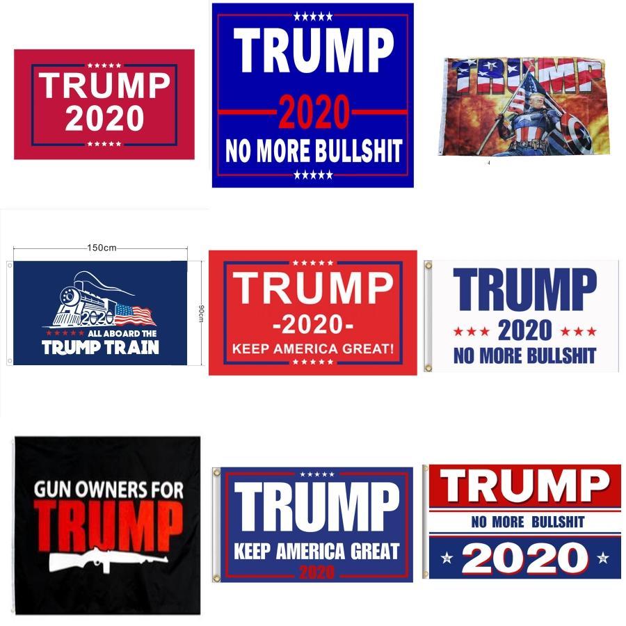 США Trump Ветер Флаги 4 Стили Американский национальный флаг полосатой украшение сада Баннер Флаги 20шт LJJO7929 # 192