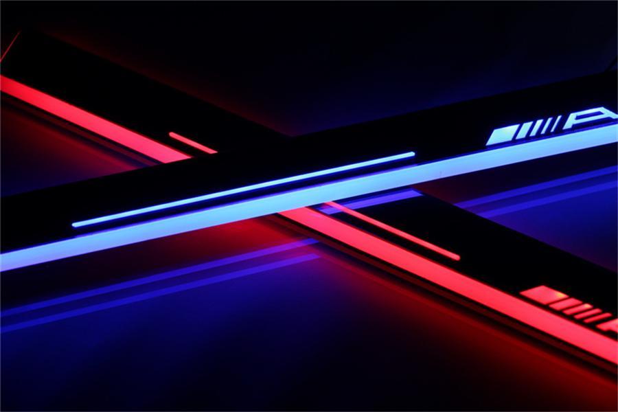 Акриловые Moving педали LED Добро пожаловать автомобилей Scuff педали Тарелка Пороги Тропинка свет для Mercedes Benz W204 GLK300 2013 - 2015