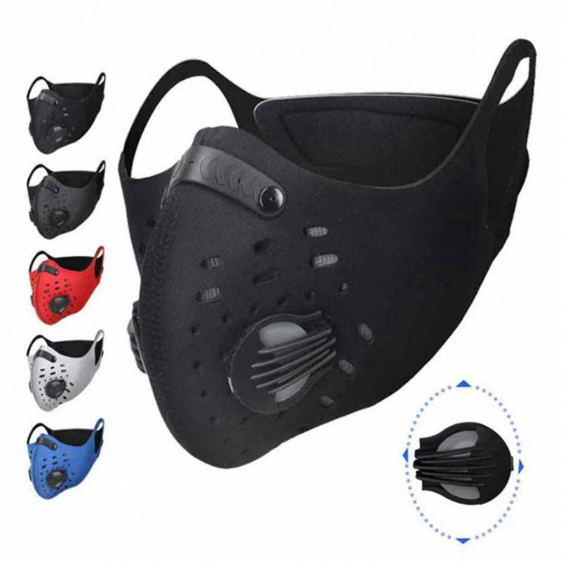 PM2,5 Anti-pollution Courir Masques Sport Formation Masque réglable Masque Visage Cyclisme Activated Lavable carbone Masque YYA112 VjFf #