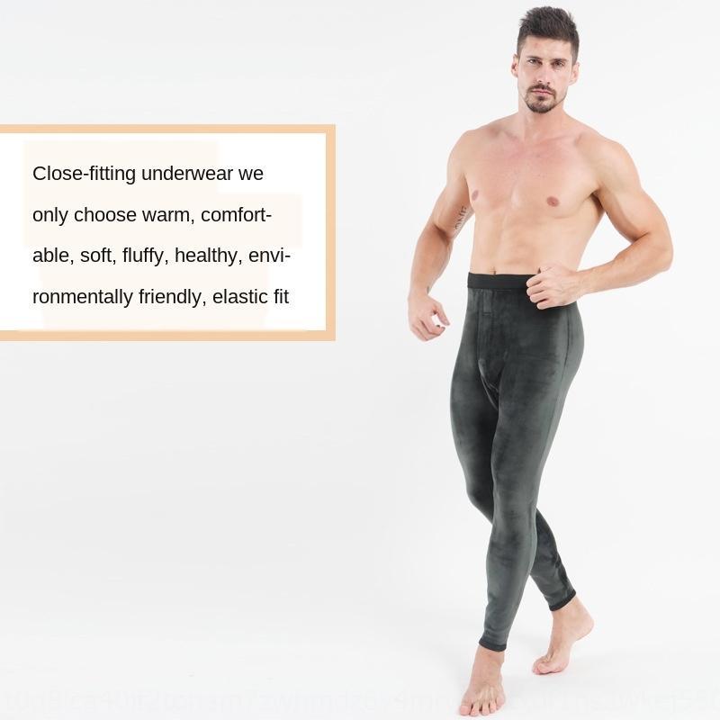 1vluM HugeMen's winter thickened super color Warm Tight velvet RAM leggings soft tight underwear single layer warm pants men's cotton pants
