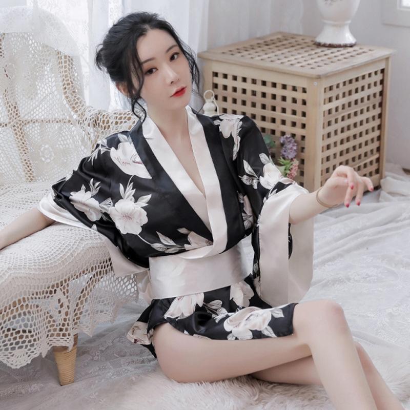 RoV18 Uniform lief die neue große sexye Unterwäsche gedruckt sexy Kimono Set Unterwäsche Butterfly Butterfly 2035 Kimono