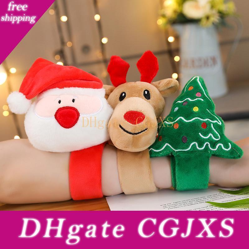 Рождественский подарок Новый Ткань Мультфильм Санта-Клаус Wristband куклы браслет Креативный Плюшевые игрушки кольца Рождественские игрушки
